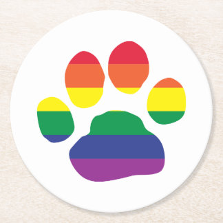 Porta-copo De Papel Redondo Gay-Orgulho-Pata-Impressão