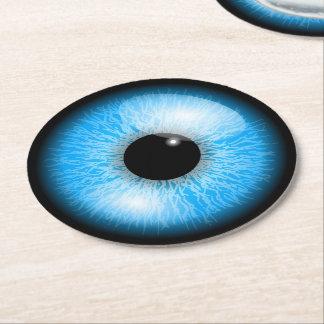 Porta-copo De Papel Redondo Globo ocular realístico azul assustador o Dia das