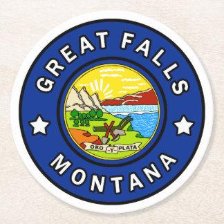 Porta-copo De Papel Redondo Great Falls Montana
