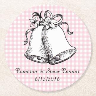 Porta-copo De Papel Redondo Guingão cor-de-rosa portas copos personalizadas de