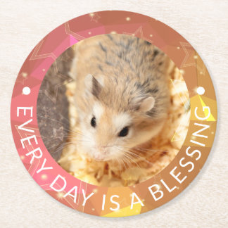 Porta-copo De Papel Redondo Hammyville - hamster bonito de Robo