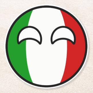 Porta-copo De Papel Redondo Italia Geeky de tensão engraçada Countryball