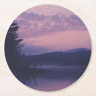Porta-copo De Papel Redondo Lago indiano, parque de Adirondack, NY