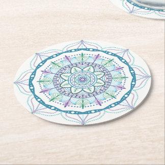 Porta-copo De Papel Redondo Mandala do maná