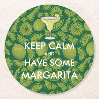 Porta-copo De Papel Redondo Mantenha a calma - Margarita