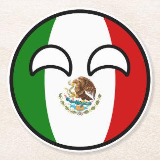 Porta-copo De Papel Redondo México Geeky de tensão engraçado Countryball