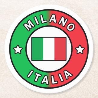 Porta-copo De Papel Redondo Milão Italia