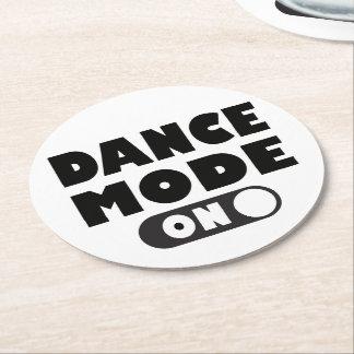 Porta-copo De Papel Redondo Modo da dança sobre, dançarino, festa de casamento