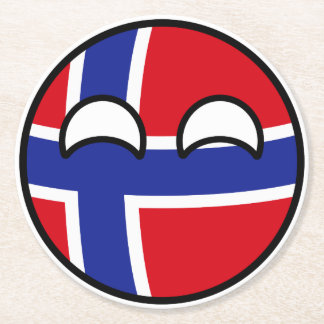 Porta-copo De Papel Redondo Noruega Geeky de tensão engraçada Countryball