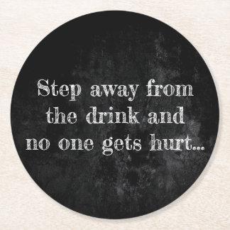 Porta-copo De Papel Redondo O giz | da poupança da bebida protege-o quando
