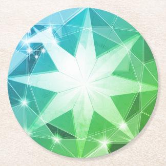 Porta-copo De Papel Redondo Olhar do cristal de rocha do compasso de pedra