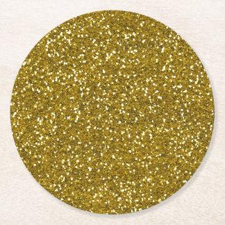 Porta-copo De Papel Redondo Ouro à moda do brilho