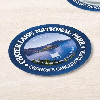 Porta-copo De Papel Redondo Parque nacional do lago crater