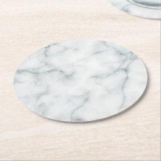 Porta-copo De Papel Redondo pedra de mármore branca