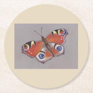Porta-copo De Papel Redondo Portas copos do cartão com design 3 da borboleta