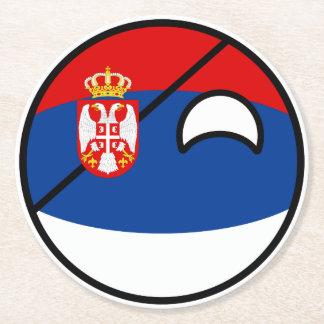 Porta-copo De Papel Redondo Serbia Geeky de tensão engraçado Countryball