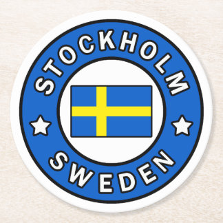Porta-copo De Papel Redondo Suecia de Éstocolmo