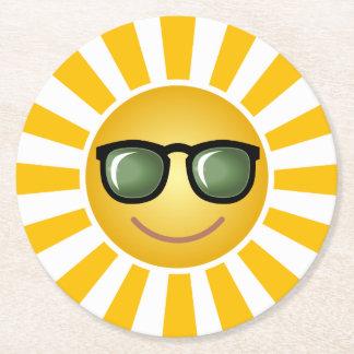 Porta-copo De Papel Redondo Sun de sorriso feliz