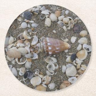 Porta-copo De Papel Redondo Tesouro do Seashell do Conch