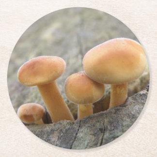 Porta-copo De Papel Redondo Toadstools em portas copos de um papel do tronco