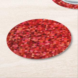 Porta-copo De Papel Redondo Triângulos sangrentos