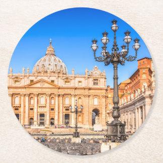 Porta-copo De Papel Redondo Vaticano quadrado feito sob encomenda das portas