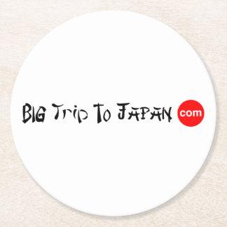 Porta-copo De Papel Redondo Viagem grande ao círculo de papel de japão