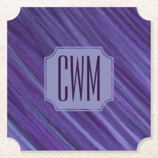 Porta-copo De Papel Roxo violeta | do Lilac indiferente do monograma