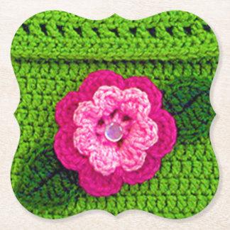 Porta-copo De Papel Suporte reusável do impressão floral verde