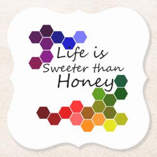 Porta-copo De Papel Tema do mel com palavras positivas