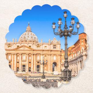 Porta-copo De Papel Vaticano quadrado feito sob encomenda das portas