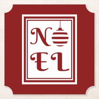 Porta-copo De Papel Vermelho e branco do feriado do Natal de NOEL