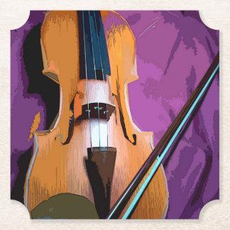 Porta-copo De Papel Violino elegante na seda roxa, porta copos dada