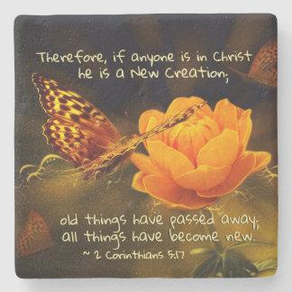 Porta-copo De Pedra 2 5:17 se qualquer um está no cristo, bíblia dos