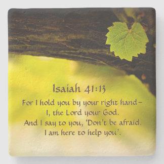 Porta-copo De Pedra 41:13 de Isaiah eu guardaro-o por sua bíblia do
