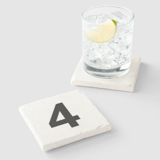 Porta-copo De Pedra 4 - número quatro