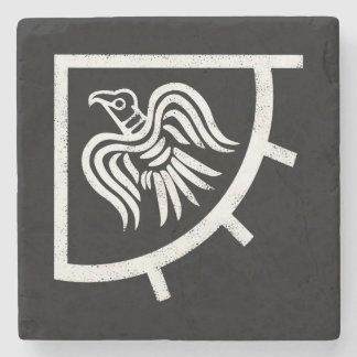 Porta-copo De Pedra A bandeira da bandeira do corvo de Viquingues