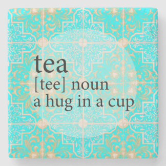 Porta-copo De Pedra Abraço marroquino azul do tempo do chá do azulejo