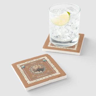 Porta-copo De Pedra Alces - porta copos de mármore do amor-próprio