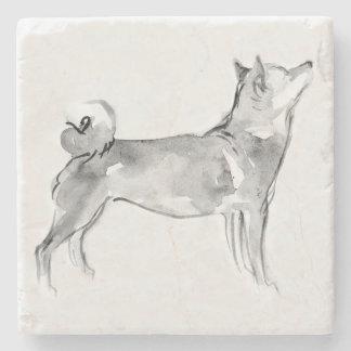 Porta-copo De Pedra Ano original 2018 C de mármore do cão da pintura