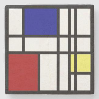 Porta-copo De Pedra Arte da impressão de Mondrian