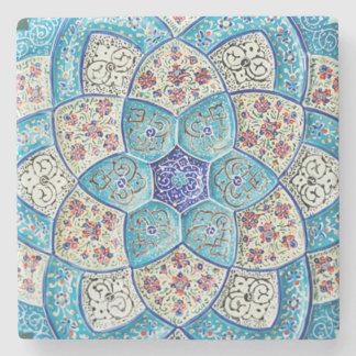 Porta-copo De Pedra Azul de turquesa marroquino tradicional, branco,