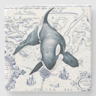 Porta-copo De Pedra Azul do mapa da orca