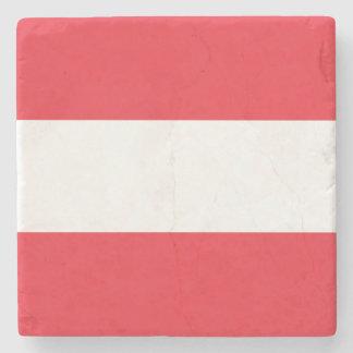 Porta-copo De Pedra Bandeira austríaca patriótica