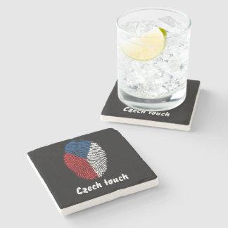 Porta-copo De Pedra Bandeira checa da impressão digital do toque