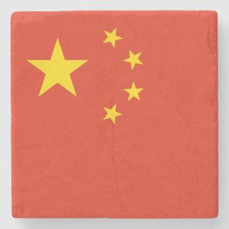 Porta-copo De Pedra Bandeira chinesa patriótica
