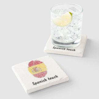 Porta-copo De Pedra Bandeira da impressão digital do toque do espanhol