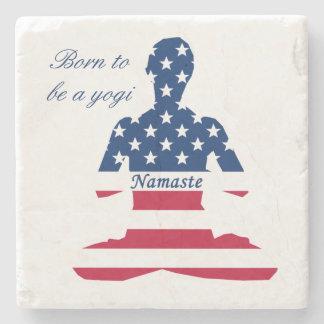 Porta-copo De Pedra Bandeira da ioga do americano da meditação dos EUA