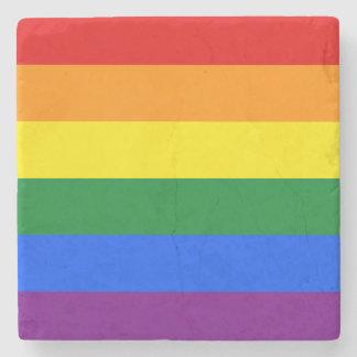 Porta-copo De Pedra Bandeira do arco-íris