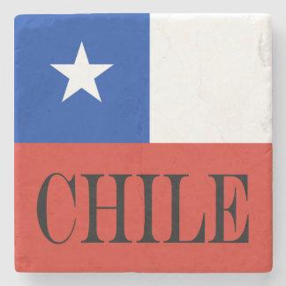 Porta-copo De Pedra Bandeira do Chile